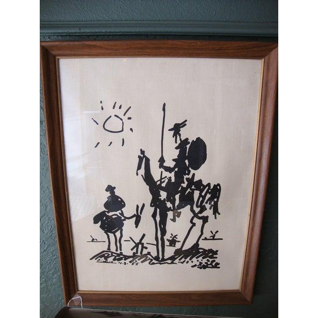 1960s Lambert Studios Picasso Print on Fabric - Image 3 of 5