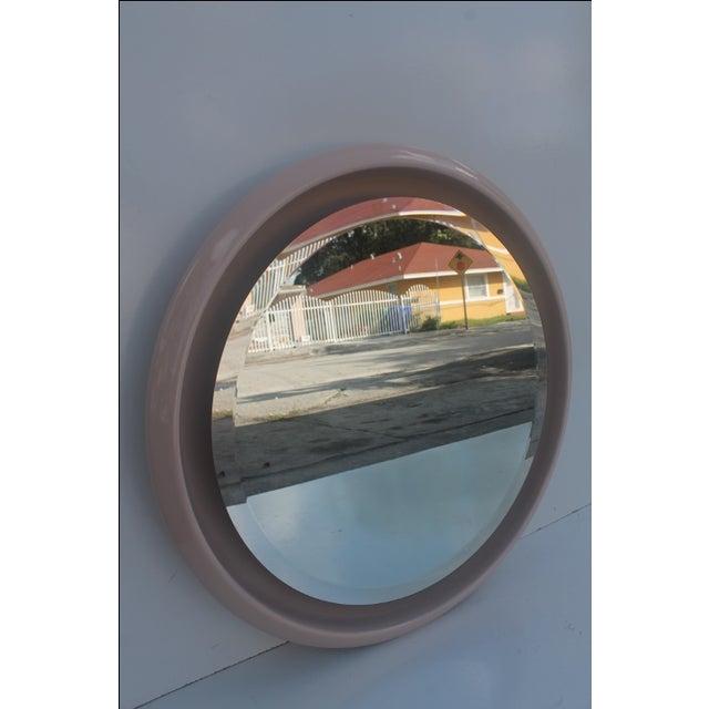 Vintage Ceramic Round Beveled Wall Mirror - Image 7 of 10
