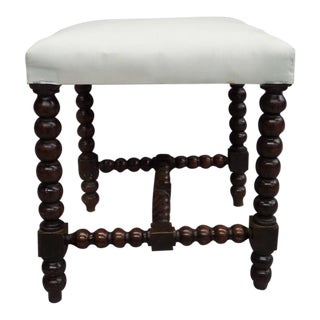 Pair of Louis XIII Style Hand-Carved Benches or Stools