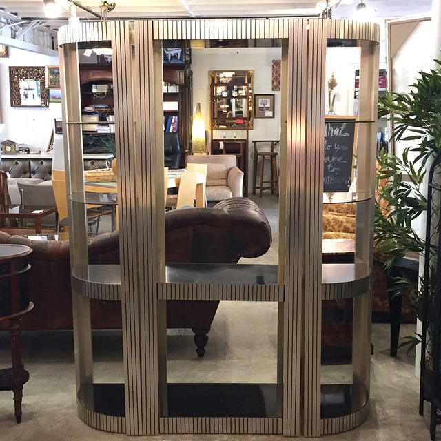 Vintage Three-Piece Black and Gold Etagere - Image 3 of 11
