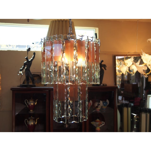 Italian Mid-Century Coral & Crystal Chandelier - Image 3 of 6