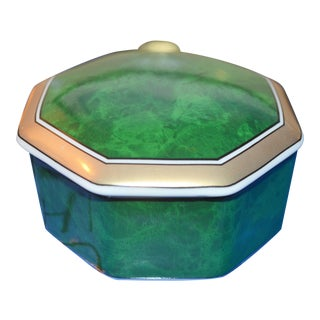 Otagari Malachite Trinket Box