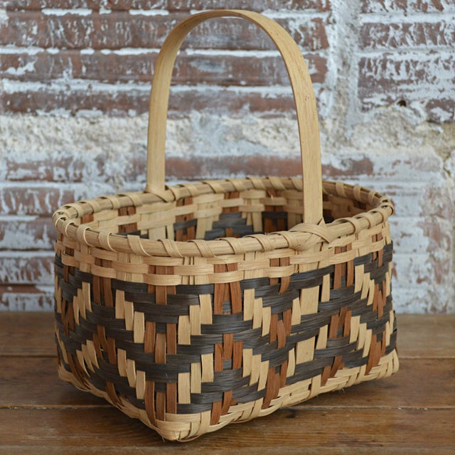 Carol Welch Cherokee White Oak Small Market Basket - Image 2 of 9