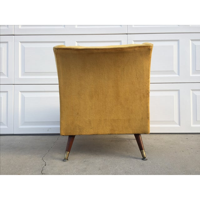 Mid Century Yellow Floating Lounge Chair - Image 8 of 11