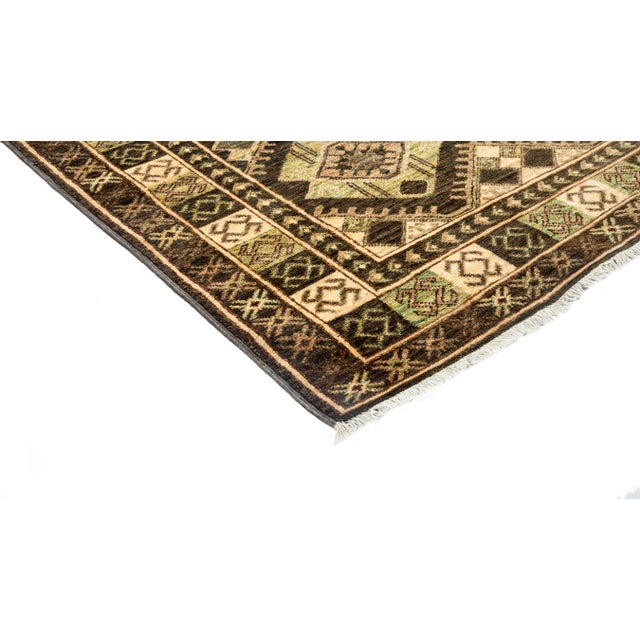 """New Tribal Traditional Hand Knotted Area Rug - 4'2"""" x 5'10"""" - Image 2 of 3"""