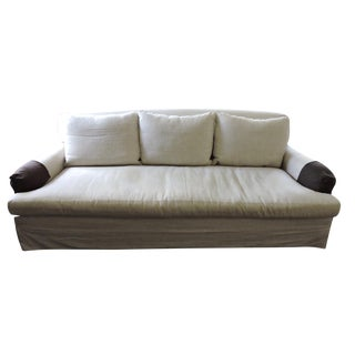 "Restoration Hardware Linen 3 Seat ""Belgium"" Sofa"