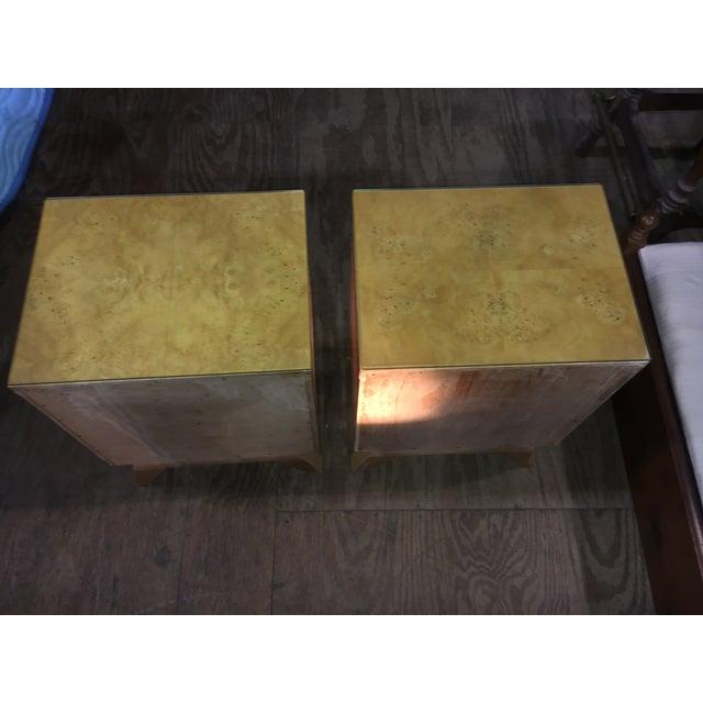 Mid-Century Blonde Nightstands Side Tables - Pair - Image 5 of 11