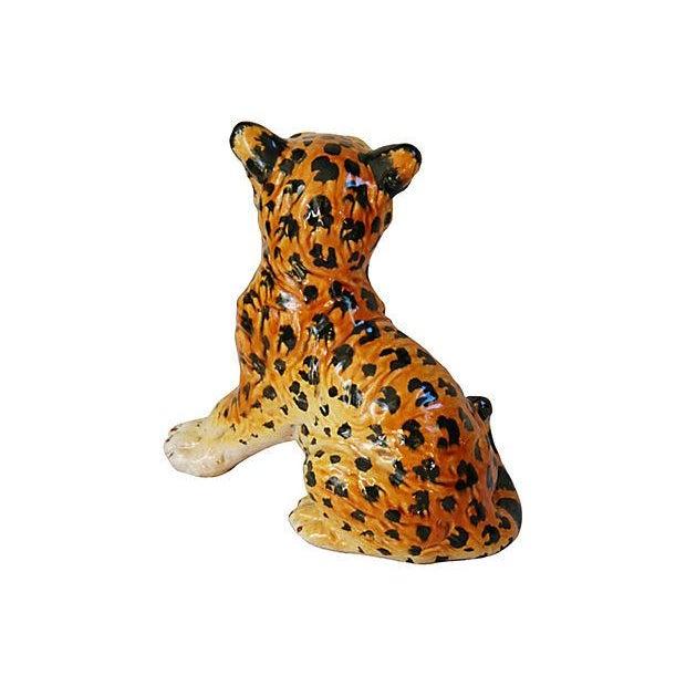 Hand-Painted Italain Terracotta Cheetah - Image 4 of 7