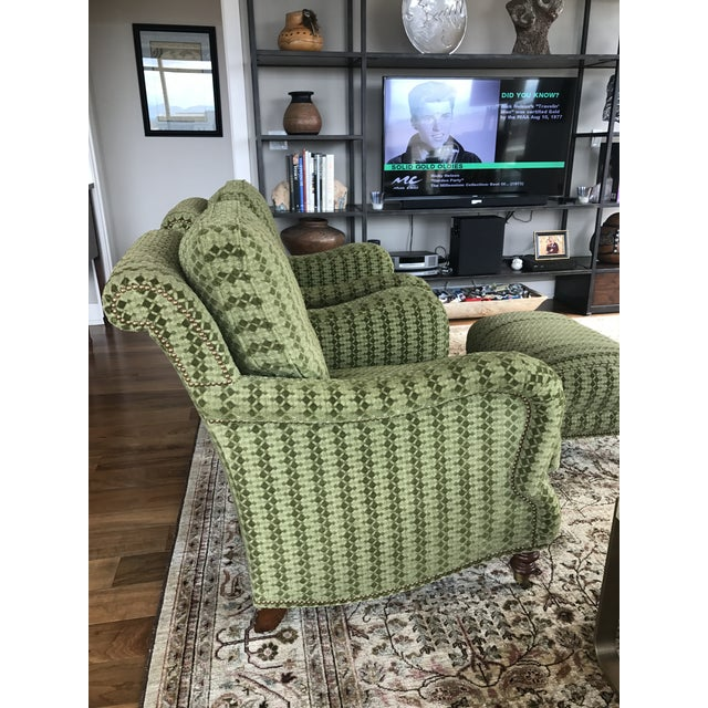 Upholstered Lounge Chairs & Ottoman - Set of 3 - Image 4 of 5