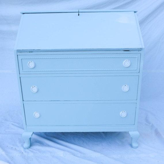 Antique Cottage Style Painted Writing Desk - Image 2 of 5