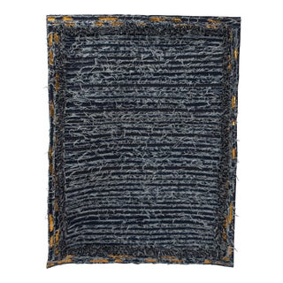 Hand Made Denim Rug by Oscar Ruiz Schmidt and Barbara Cuevas