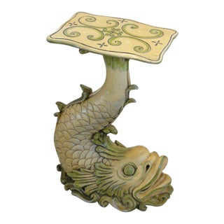 Vintage Composite Koi Fish Pedestal