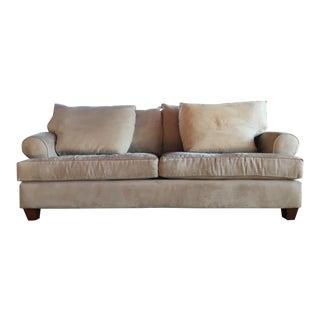 Contemporary Suede 2-Cushion Sofa