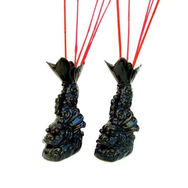 Asian Dragon Koi Figural Vases - A Pair - Image 2 of 10