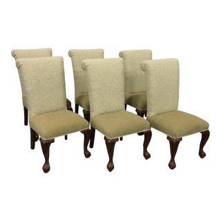Neutral Fabric Dining Chairs - Set of 6