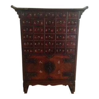 Antique Style Asian Apothecary Chest