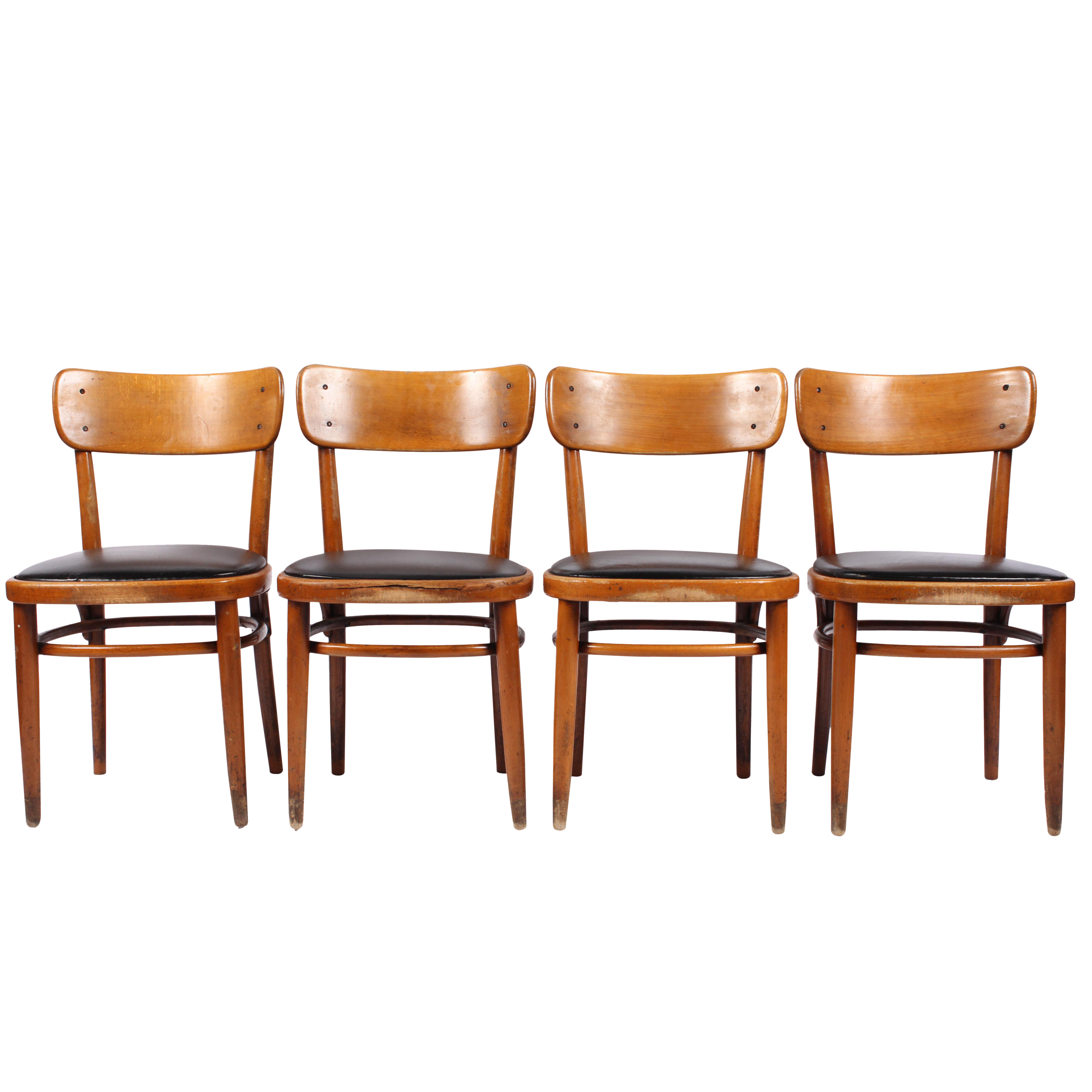 Vintage Swedish Gemla Cafe Chairs   Set Of 4