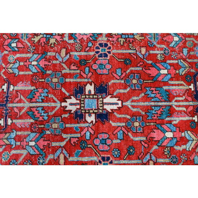 Antique Persian Heriz Rug - 9′6″ × 12′6″ - Image 3 of 6