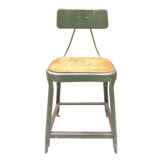 Industrial Metal Desk Chair