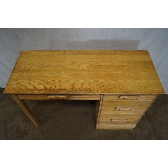 Brandt Ranch Oak Rustic Southwest Style Writing Desk (A) - Image 8 of 10