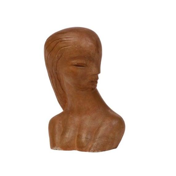 Modernist Ceramic Female Bust - Image 2 of 4