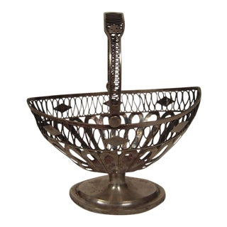 European Silver Neoclassical Basket