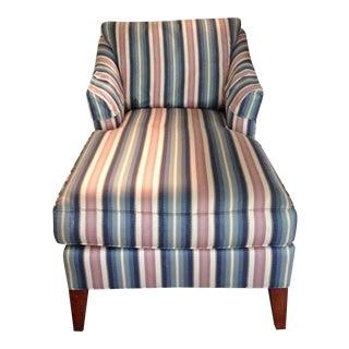 Ethan Allen Stripe Chaise