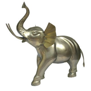 1970s/80s Brass Elephant Figurine Sculpture