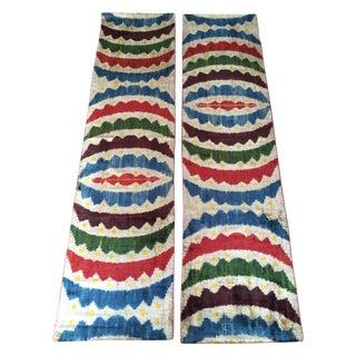 Velvet Silk Ikat Panel Textiles
