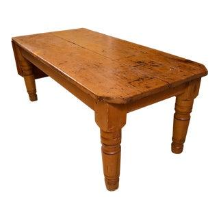 Turned Leg Heart Pine Butcher's Table