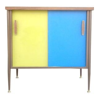 1960s Yellow & Blue Vista Cabinet