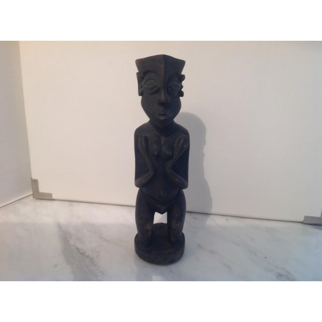 Rustic Carved Wood Figure - Image 3 of 8