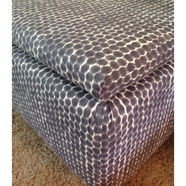 Navy Ikat Storage Ottoman - Image 6 of 6