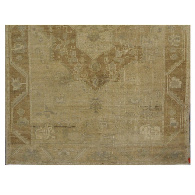 Image of Vintage Turkish Oushak Rug - 4'6'' x 7'4''