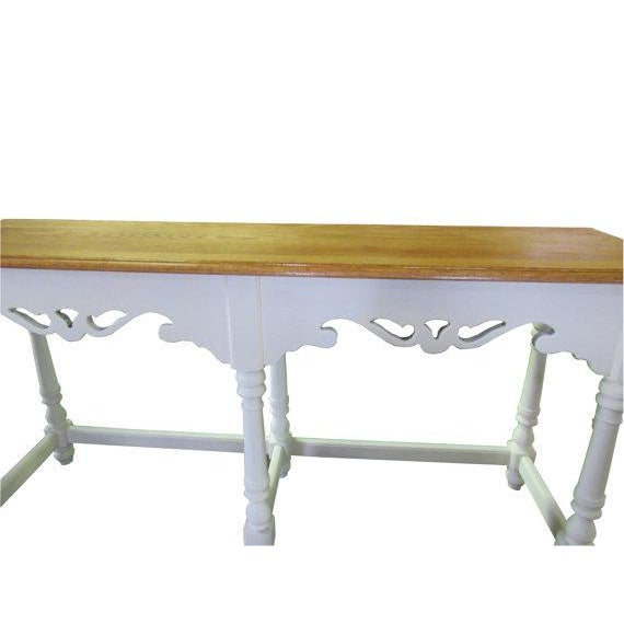 Ethan Allen Henry Coffee Table With Drawers: Ethan Allen Farmhouse Console Cottage Painted Sofa Table