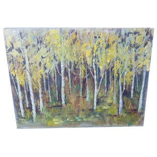 """Forest for the Trees"" Unsigned Oil Painting"