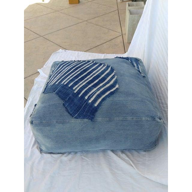 Indigo Floor Cushion Ottoman - Image 2 of 6