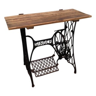 Singer Rustic Sewing Machine Console