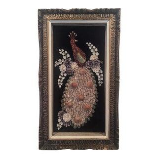 Vintage Seashell Peacock Wall Art