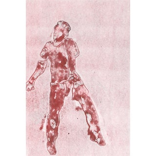 """Dancing Figure II"" Monoprint by Rob Delamater"