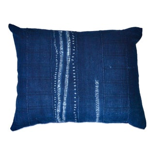 African Indigo Tie-Dye Pillow