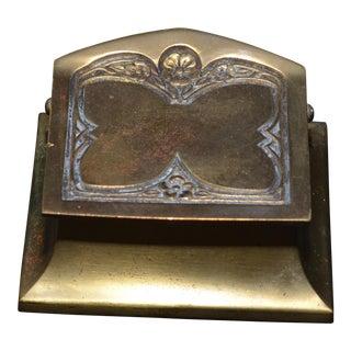 Bronze Art Nouveau Butterfly Stamp Box