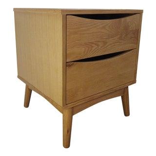 Oak Mid-Century Style Nightstand