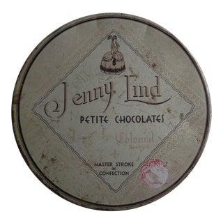 Vintage Jenny Lind Chocolates Advertising Tin