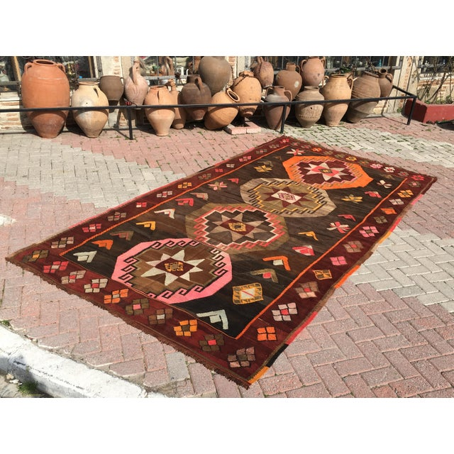 Vintage Turkish Kilim Rug - 6′4″ × 12′ - Image 2 of 10