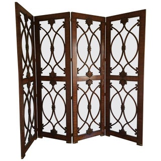 Palisander & Glass Screen Room Divider