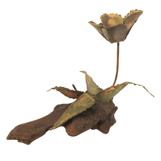 1960s Curtis Jere Style Metal Flower Sculpture - Image 1 of 5