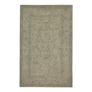 Traditional Gray Hand Knotted Area Rug - 8' x 10'