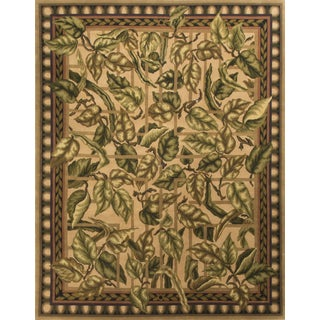 "Contemporary Hand Knotted Wool Rug - 7'9"" X 10'"