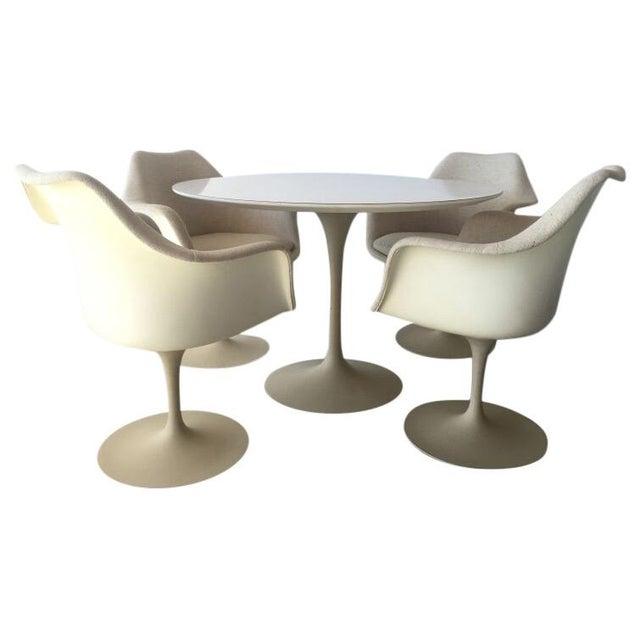 Image of Saarinen Mid-Century Modern Tulip Chairs & Table